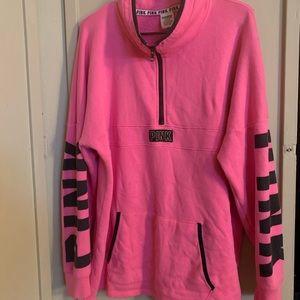 VS PINK quarter zip sweater